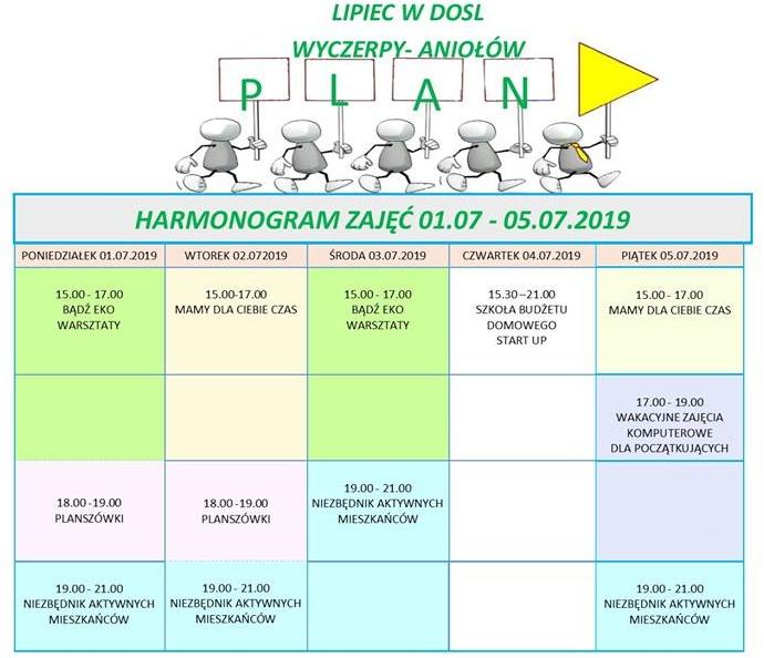 plan zajęć w dosl tydzień 27/2019