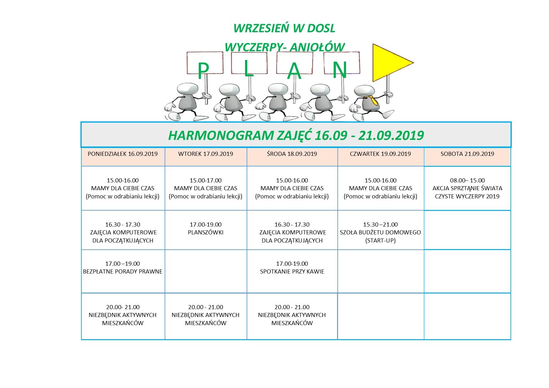 plan zajęć w dosl tydzień 38/2019