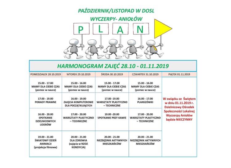 plan zajęć w dosl tydzień 44/2019